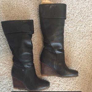 UGG Ravena Knee high wedge boots sz 7